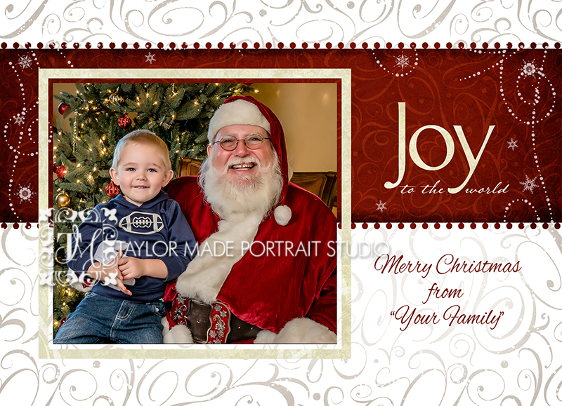 This is the front of the 5x7 flat Christmas Card.  Pack of 24 is $45