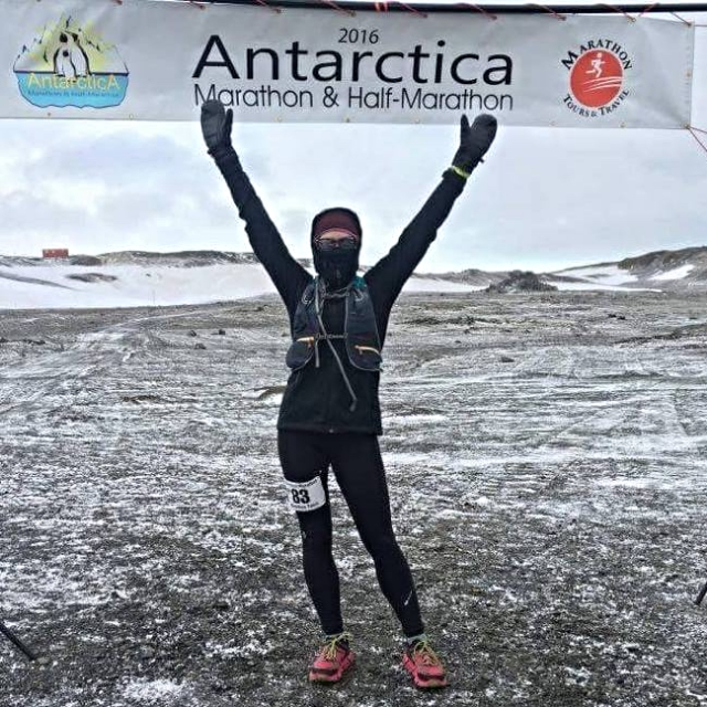 2016 Antarctica Marathon - Winner of 0-39 female age group - Alyssa Yell