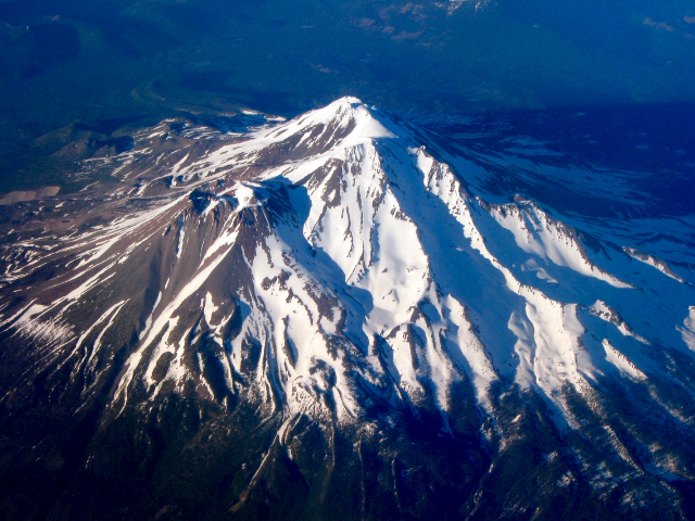 Mt.Shasta Aerial - By Ewen Denney - Own Work