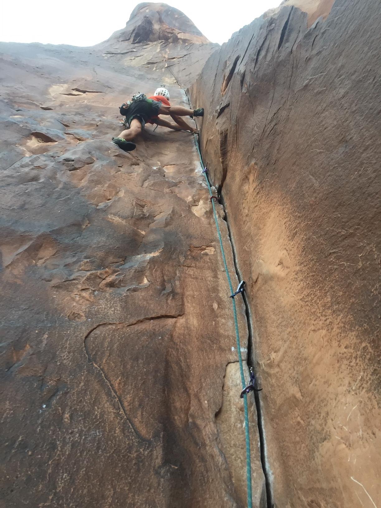 Rock Climbing Moab Utah SAANO Adventures Trad Climbing Multi Pitch.JPG