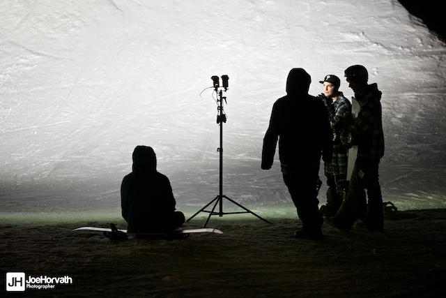The Teamlab crew at Granite Peak Parks, lit with a speedlight
