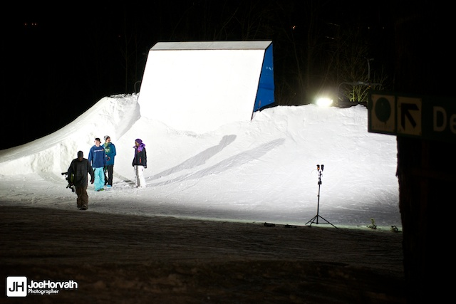 granite peak parks wallride at night lit with speedlights