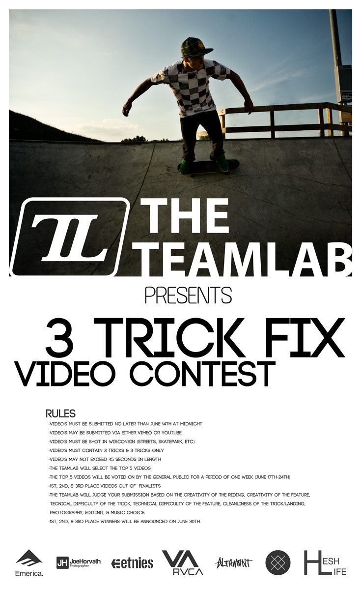 The Teamlab 3 trick fix contest