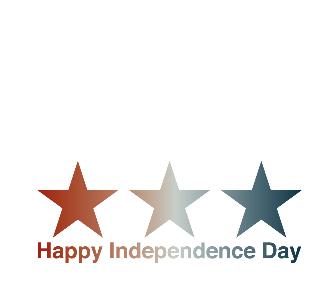Happy Independence Day from Joe Horvath Visuals. Stars and Stripes logo design. Wausau, Wisconsin