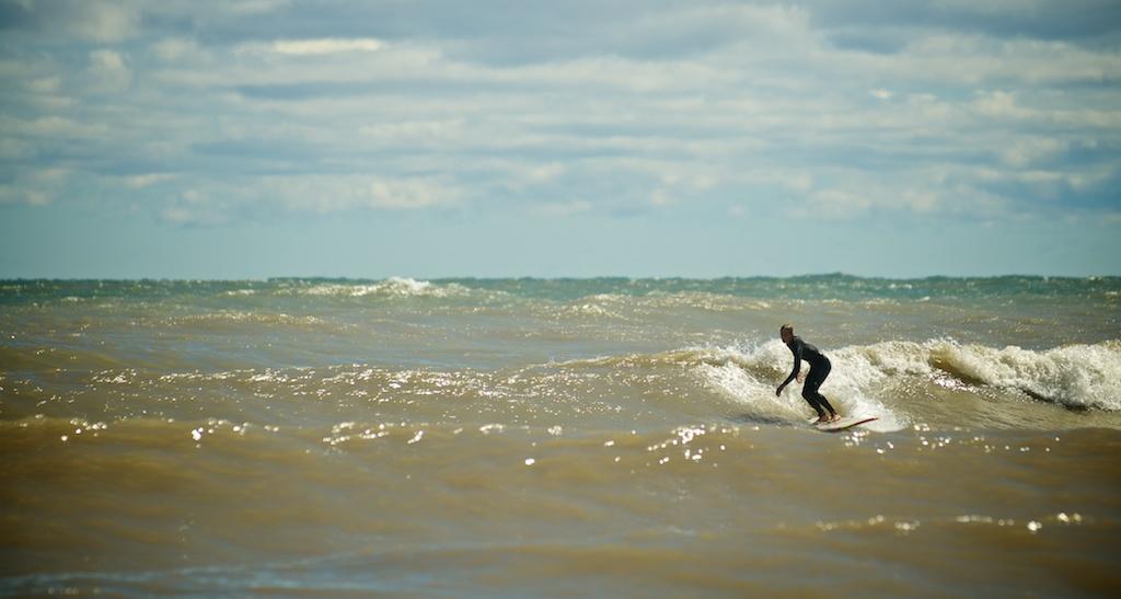 steen grams sheboygan surfing. photo by joe horvath