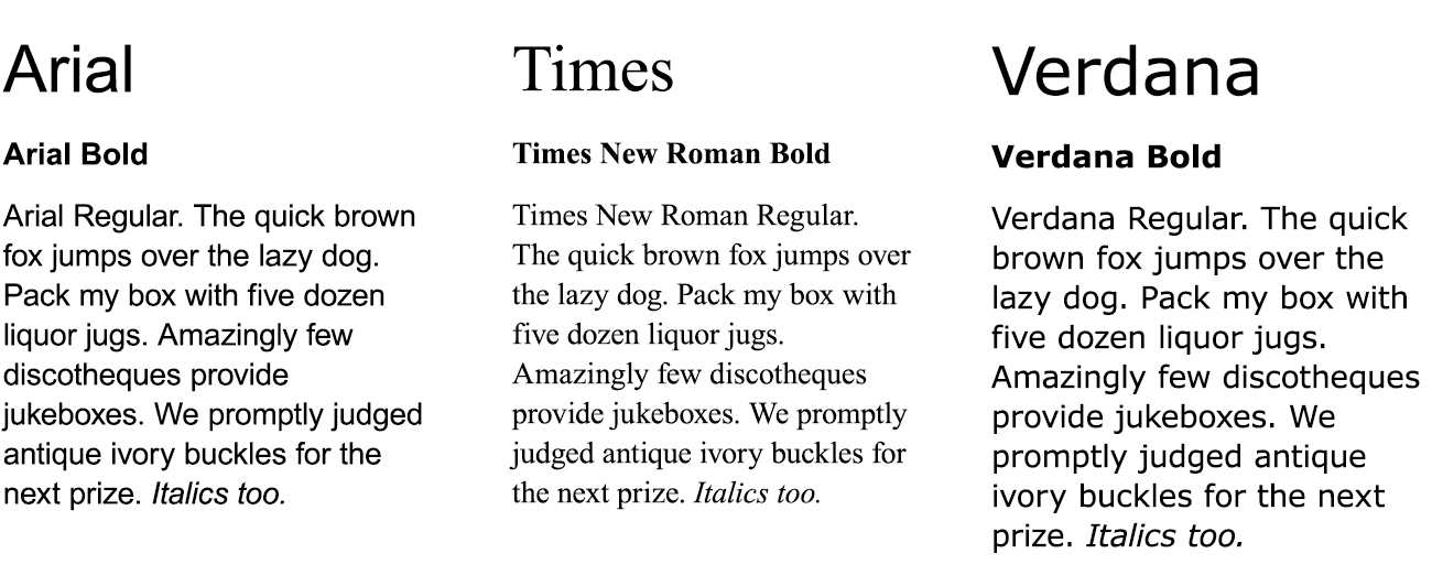Not too many years ago, Arial,Times and Verdana were some of the only fonts you could safely use on the web.