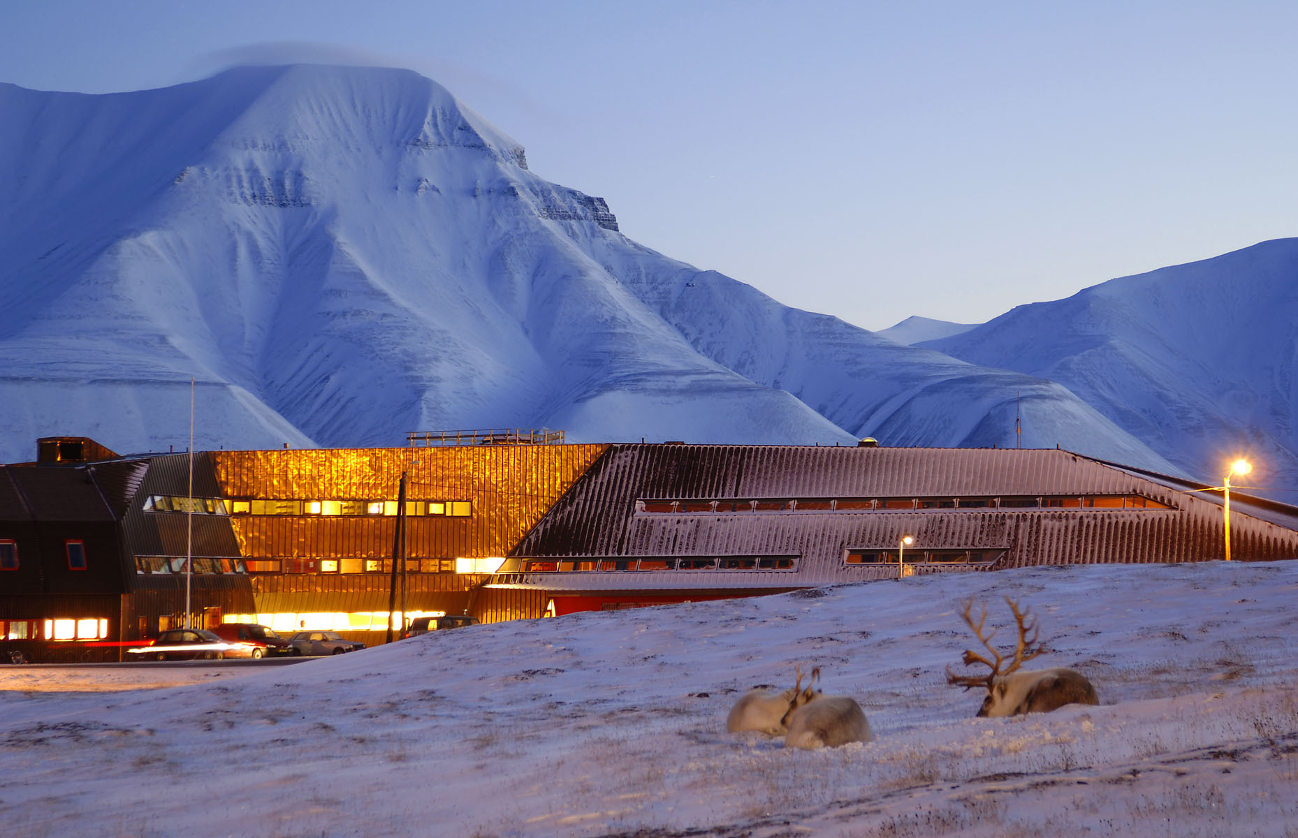 Svalbard Science Center  Project by Jarmund / Vigsnaes Arkitekter, Constructed 2005 Longyearbyen, Spitzbergen, Svalbard