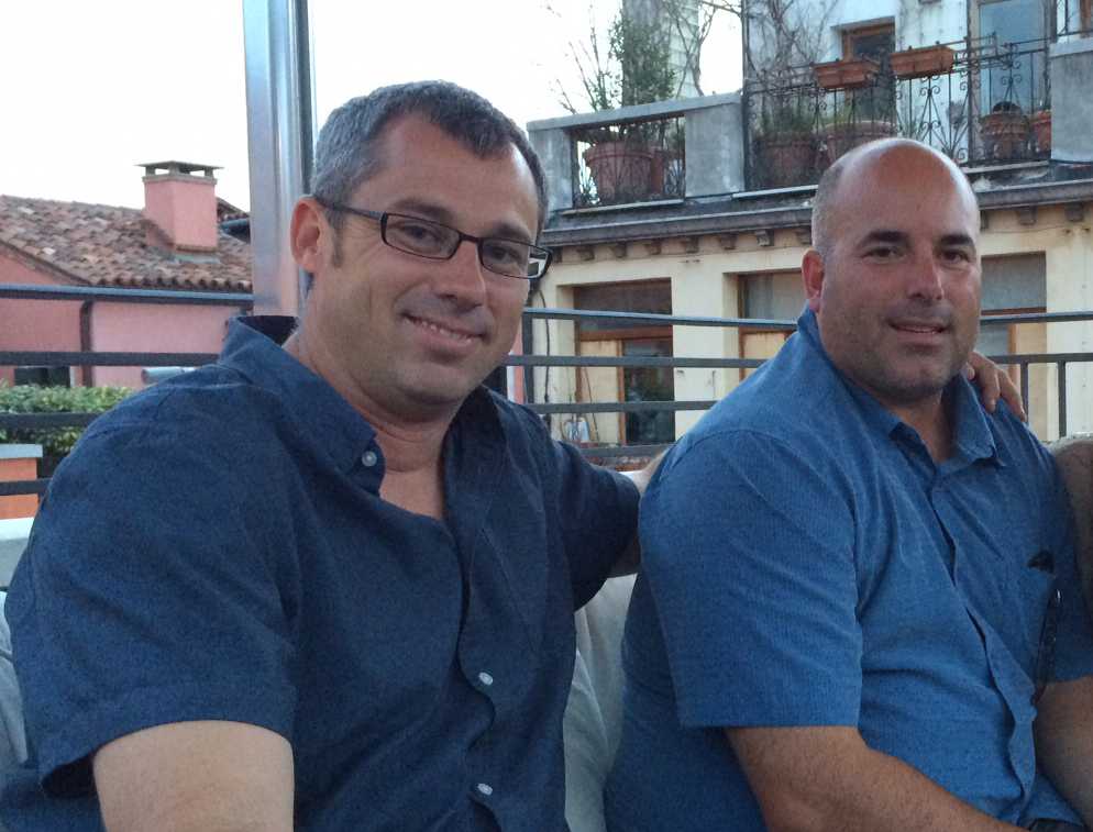 Dovetail Principal Chad Rollins and Managing Principal Scott Edwards on a rooftop in Venice