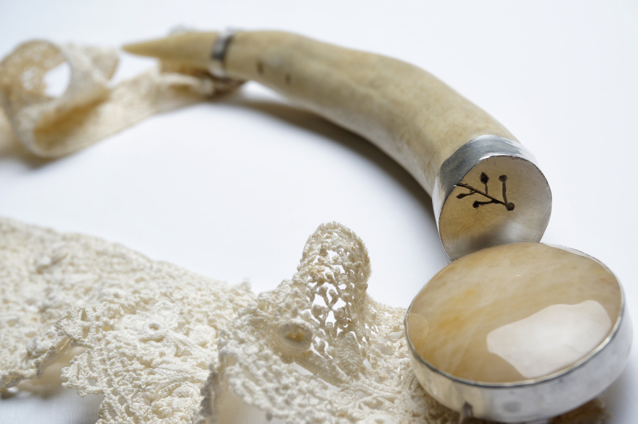 Necklace close up.
