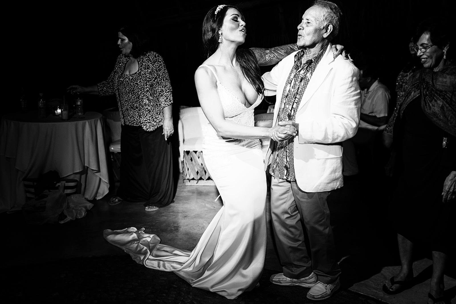 Bride dancing with her grand-father