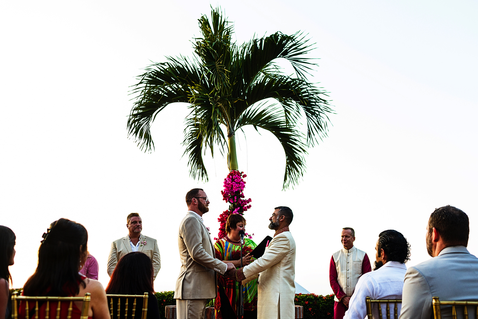 Destination wedding ceremony at Casa Muni