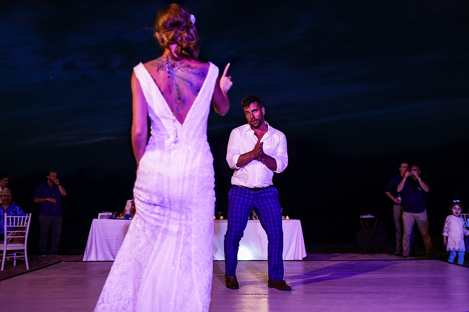 Wedding couple's first dance as husband and wife
