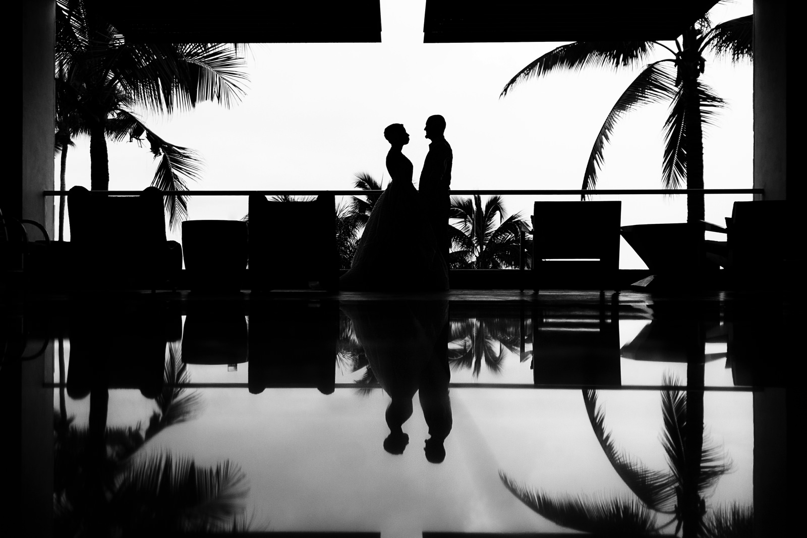 Couple standing at the Hyatt Ziva resort lobby