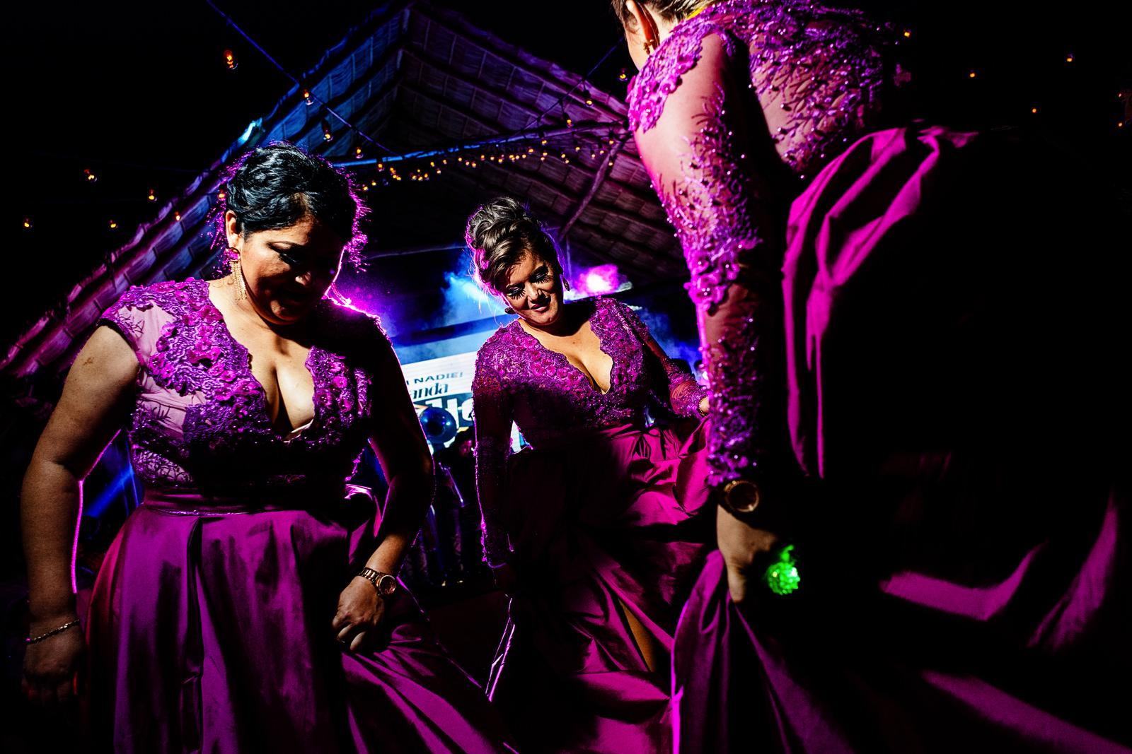 Groomsmaids dancing and having fun at the dance floor.