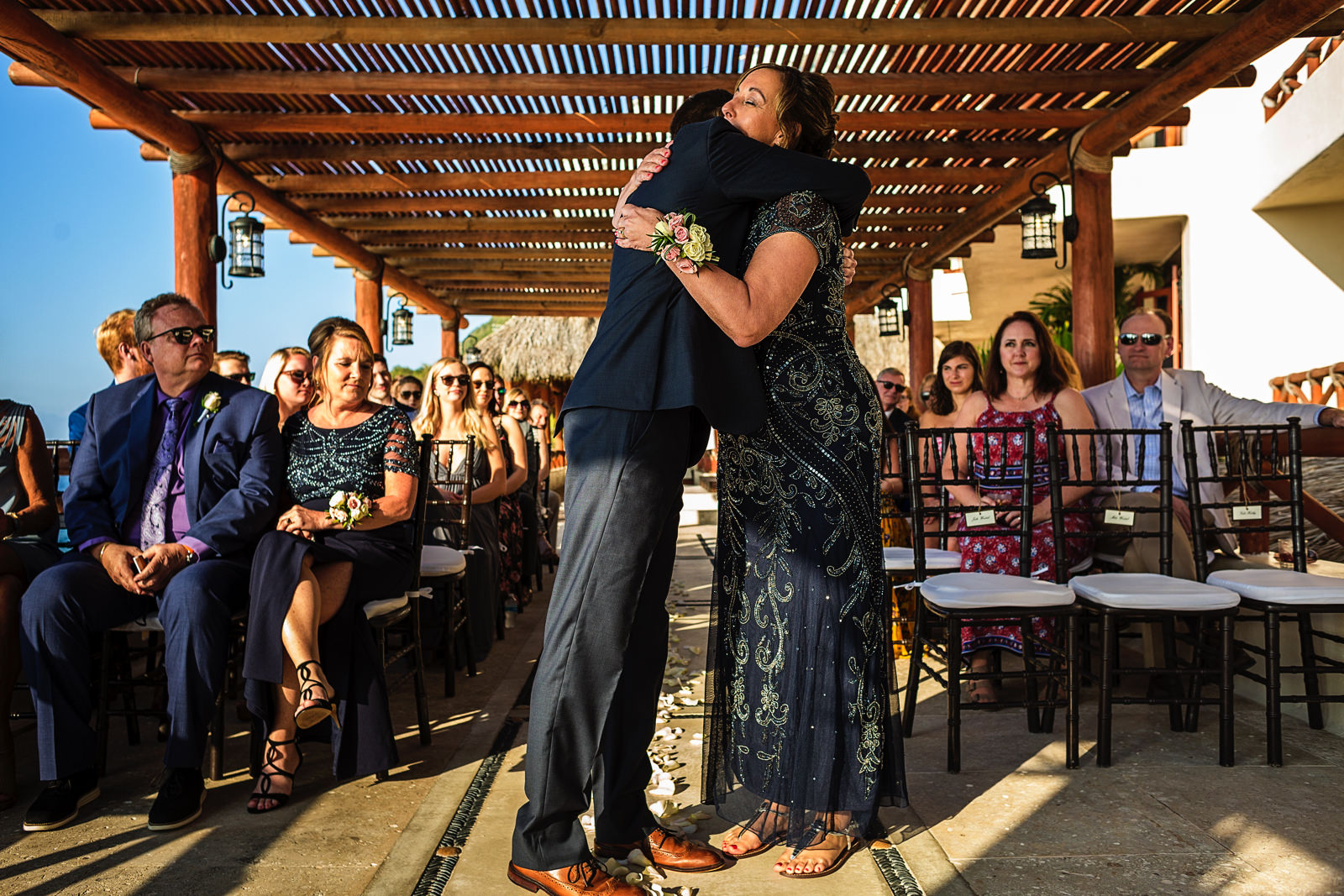 groom-mother-down-aisle-ceremony-playa-fiesta-wedding.jpg