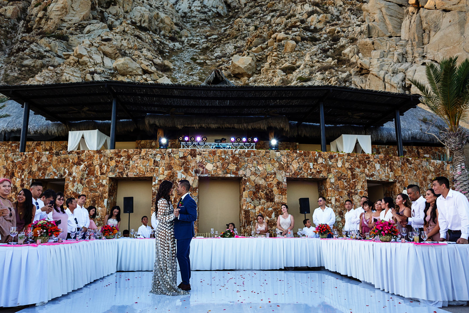 Bride and groom's first dance at Grand Solmar Land's End resort