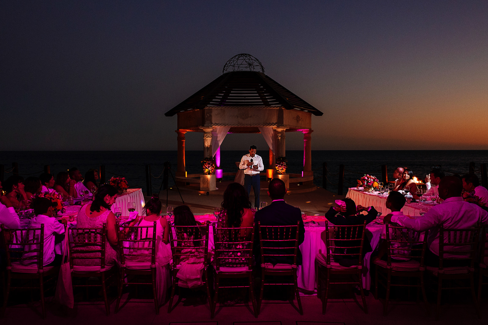 Wedding speech at Grand Solmar Land's End resort in Cabo San Lucas