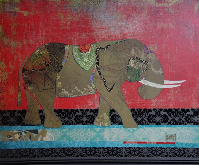 """Elephant"" paper collage"
