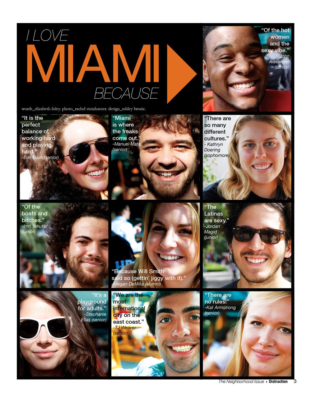 I Love Miami Because...
