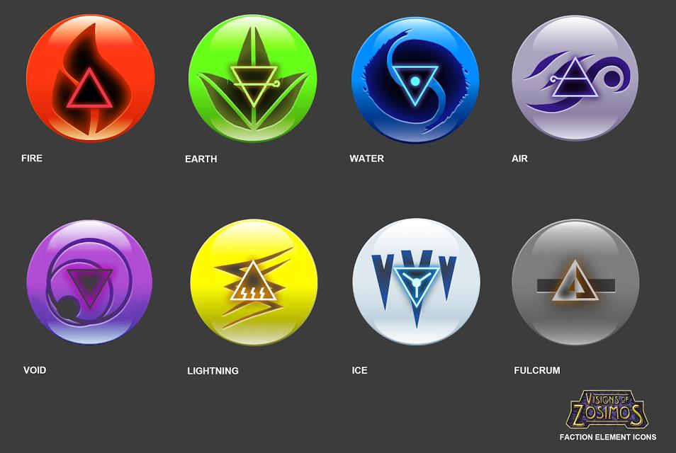 Elemental Faction Logos
