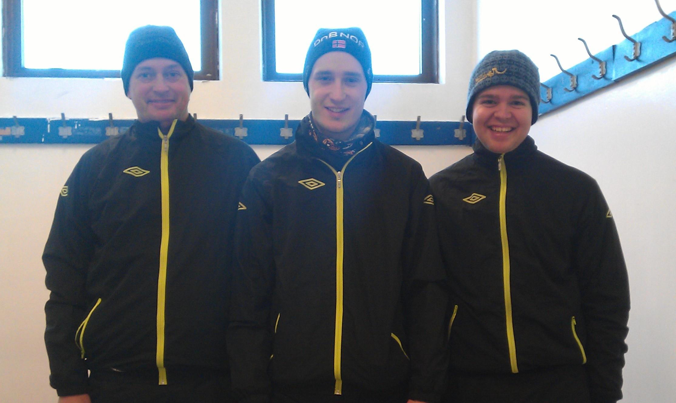 Treningskamptrio: Morten Olafsen, Tore Olsen Hagelund og Henrik Skjevestad