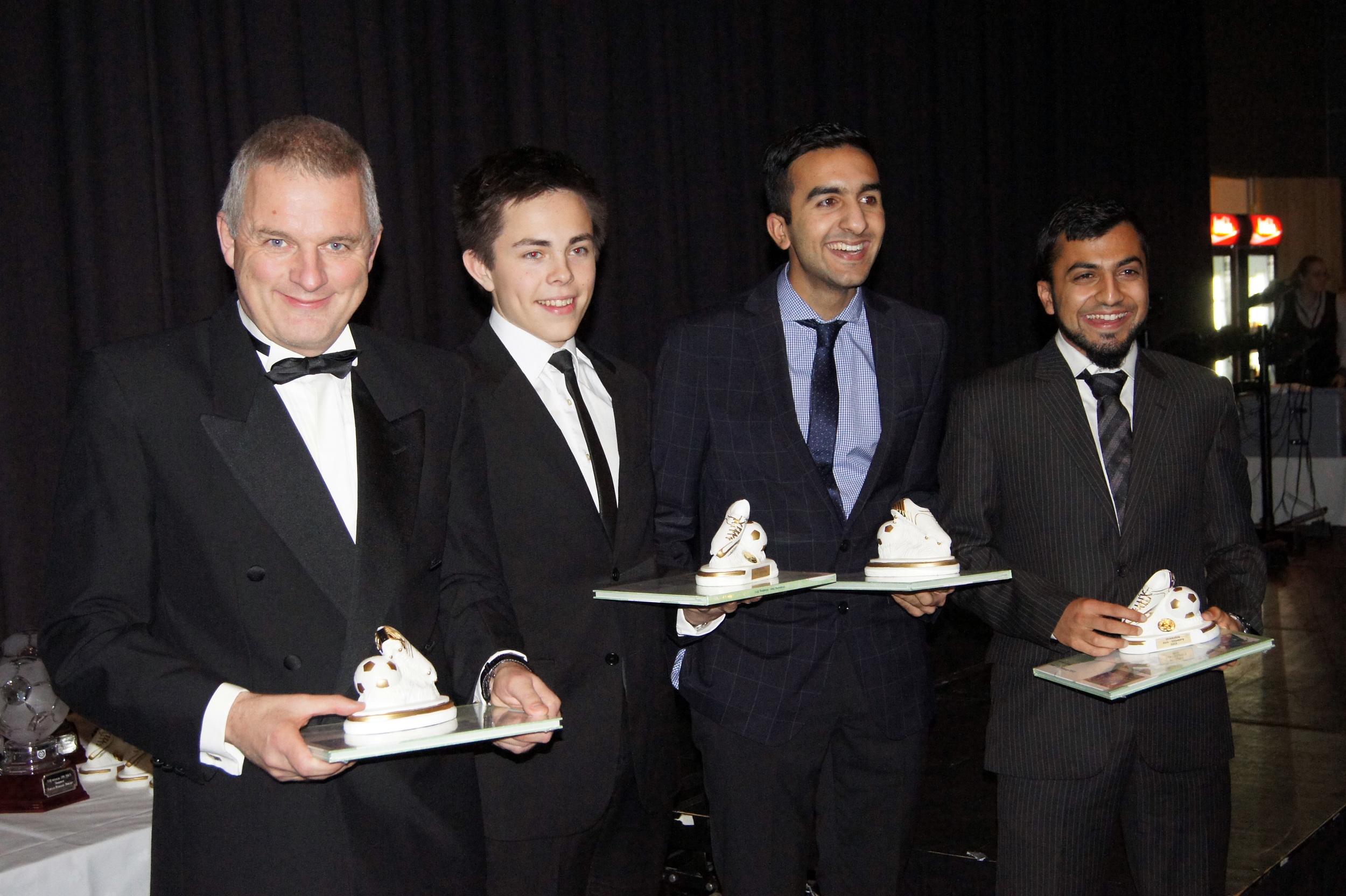 GØTEBORGPRIS: Steinar Myhr, Fredrik Glendrange, Ali Iqbal Tahir og Sulman Hussain var på årets Gøteborg-utveksling.