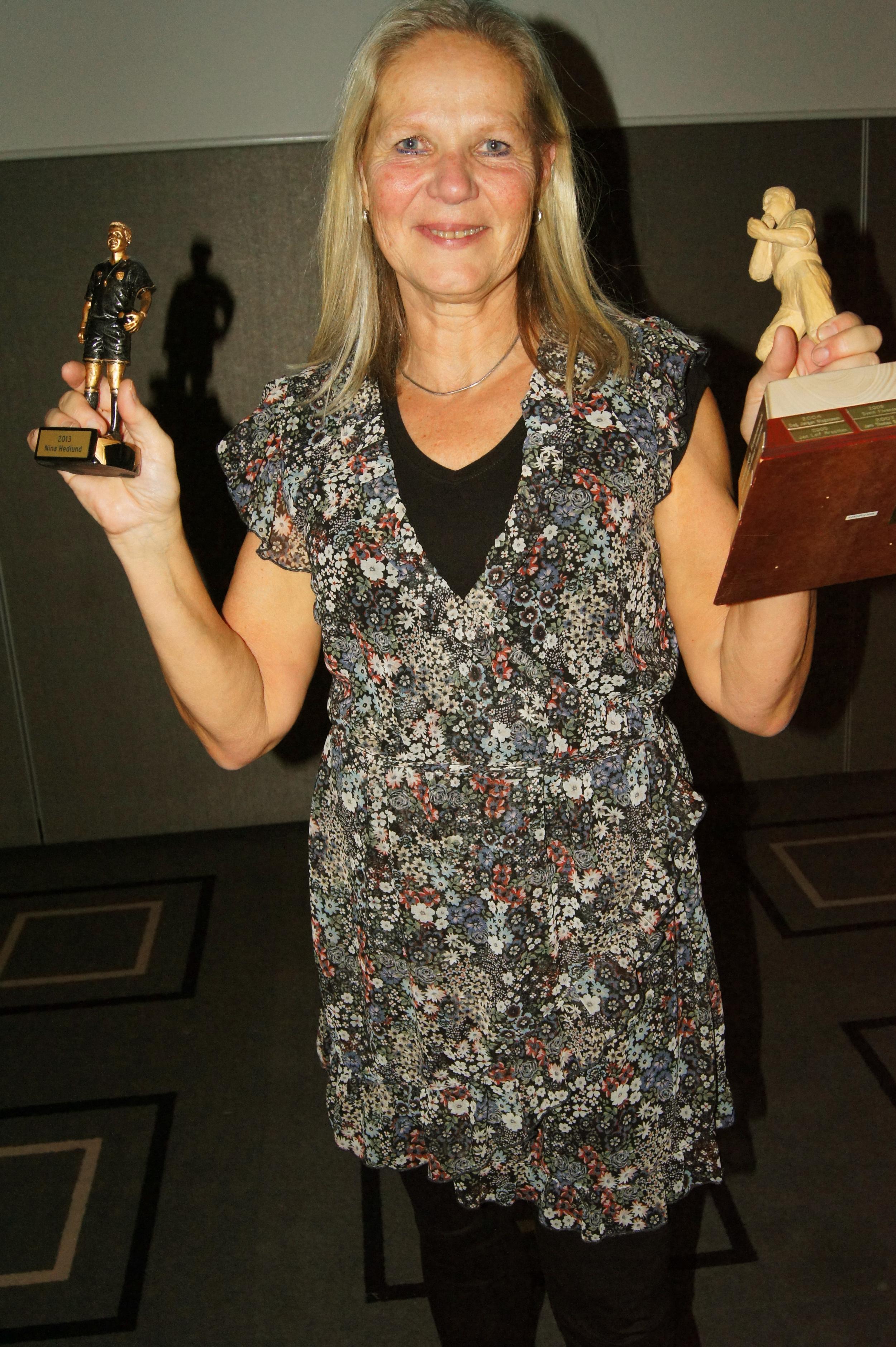 PRISDRYSS:  Veileder og instruktørNina Hedlund kunne hente flere priser under prisutdelingen.