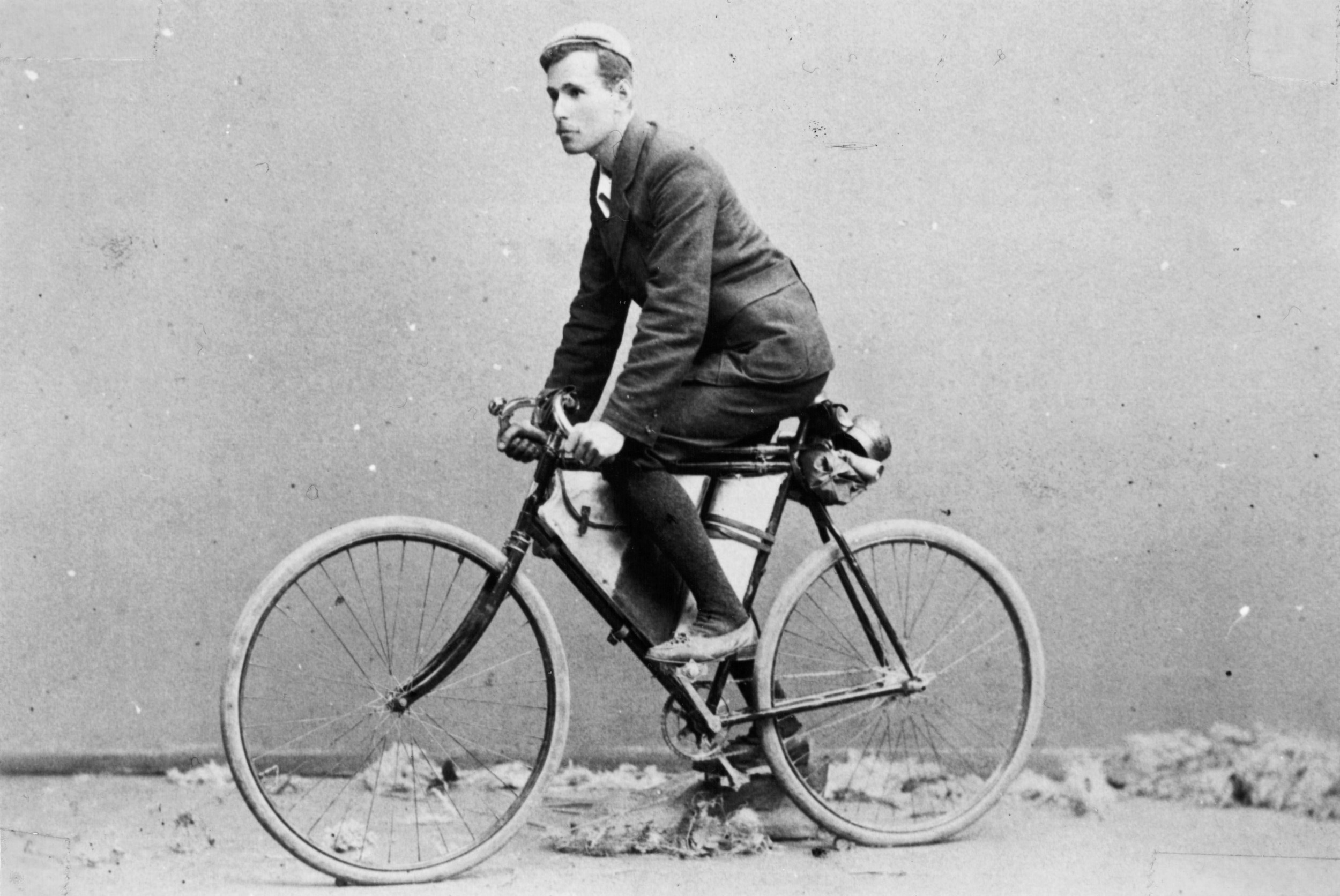 Richardson, from the WA goldfields, was the first to ride the Nullarbor,  in November 1896, and around the contienet (1899-1900)