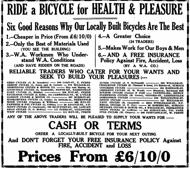 WA Bike Makers — WA Historical Cycle Club