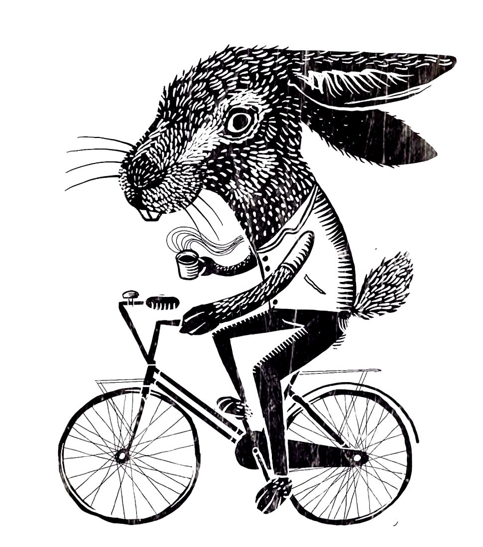 "© Illustration ""Rabbit On A Bike"" by kind permission of Victor Tello @velotheory"
