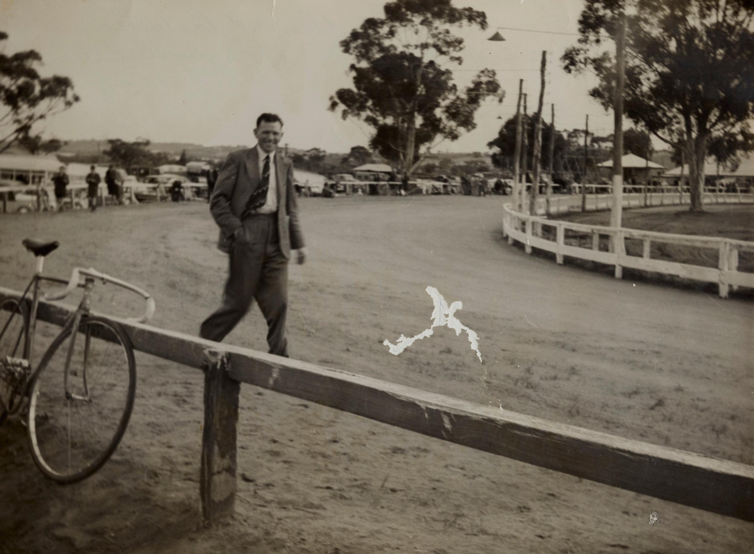 Howard Baldwin at the York Track. photo courtesy Chris Baldwin