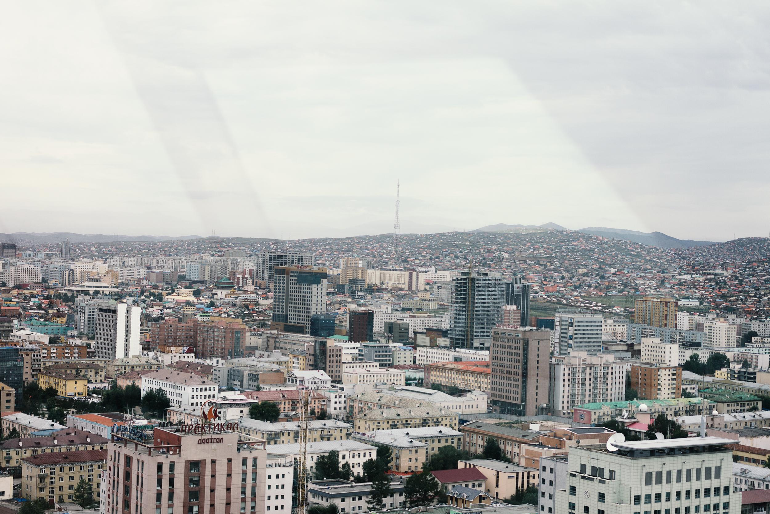 Utsikten fra en sky bar