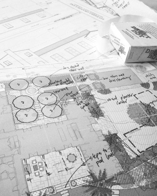 schematic design for mediterranean residence in montecito