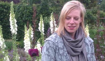 Sophie Dixon, admiring the Potager at RHS Garden Rosemoor