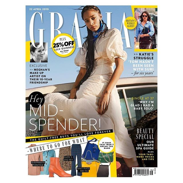 I should have posted last week about the new, improved @graziauk, which the whole team has worked so hard on and which (if we do say so ourselves) is looking SO GOOD. But I was too busy. Luckily I'm also really proud of this week's. Particularly close to my heart is my interview with Sarah Scott, who had a stroke when she was 18 and has gone on to become a scientist, despite suffering from the language impairment aphasia. @genevieve_roberts has written a really beautiful piece about becoming a solo mum. I'm also so excited about our new weekly Westminster page, masterminded by @itsmeannasilverman and shining a light on crucial political issues that have been overshadowed by Brexit; by @lynnenright's weekly interviews with real women about their real sex lives; and by our new page Grazia's Life Skills, which features @mother_pukka and @laurawhateley among other brilliant voices and is an unmissable source of practical wisdom. There are so many other fantastic things in this issue too, from fashion gorgeousness to @laurajgood's snack column. PROUD 💥 @graziauk