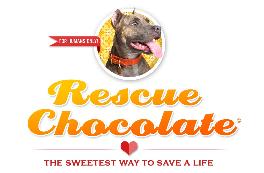 Most delicious way to save a life!   Rescue Chocolate  is vegan, Brooklyn-based and the best you've ever had. 100% of net proceeds to go to rescues. Yummmm! A great addition to any gift!