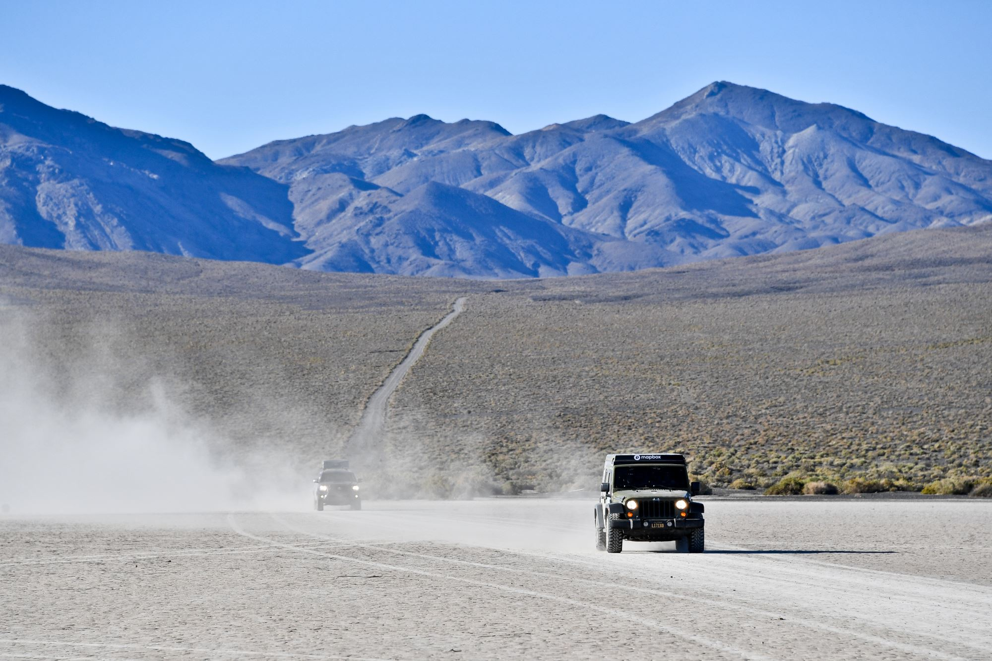 Day 0 - Crossing a dry lake bed in Nevada