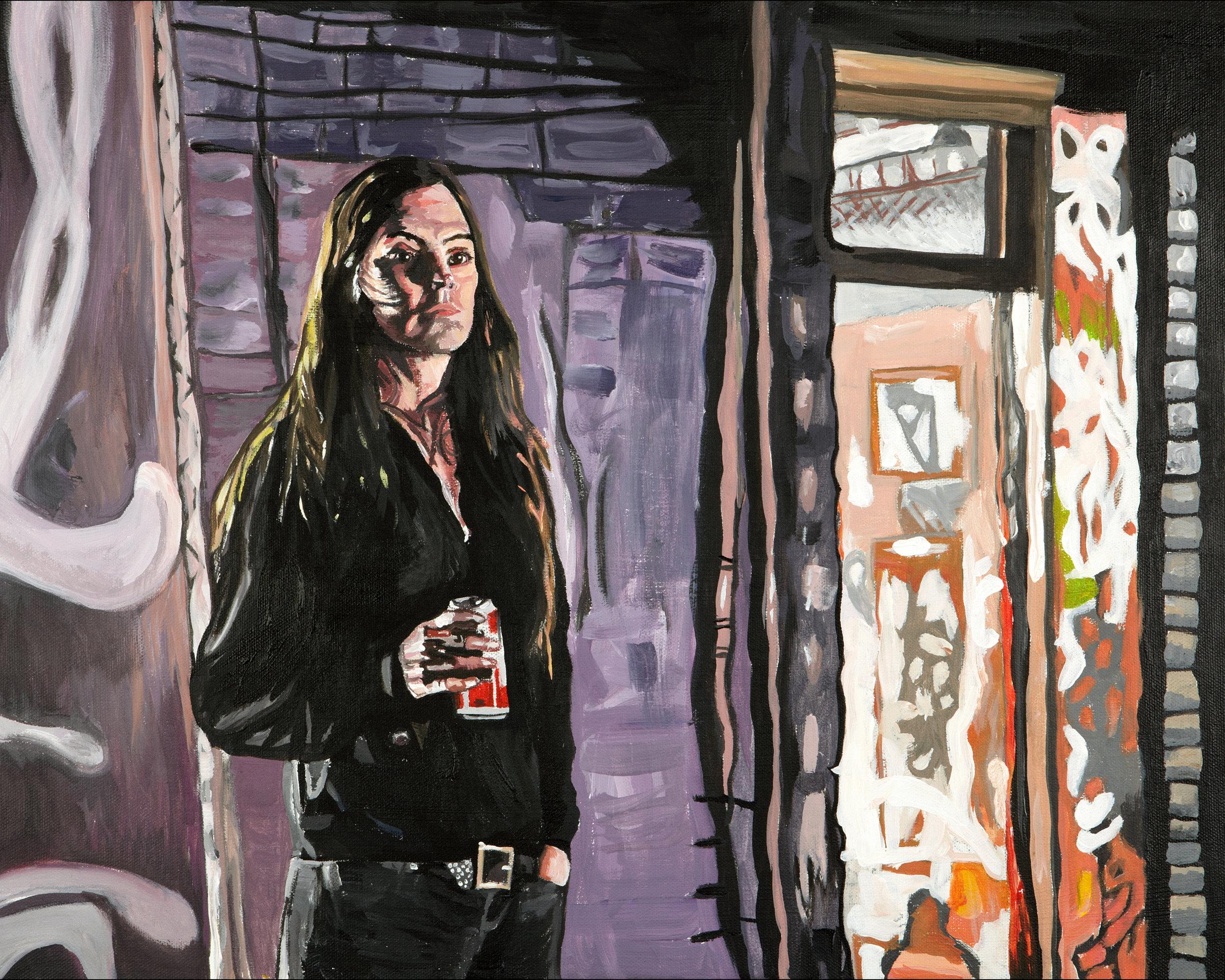 "Remember Alphabeta? , 2011  Acrylic on canvas  16"" x 20"""