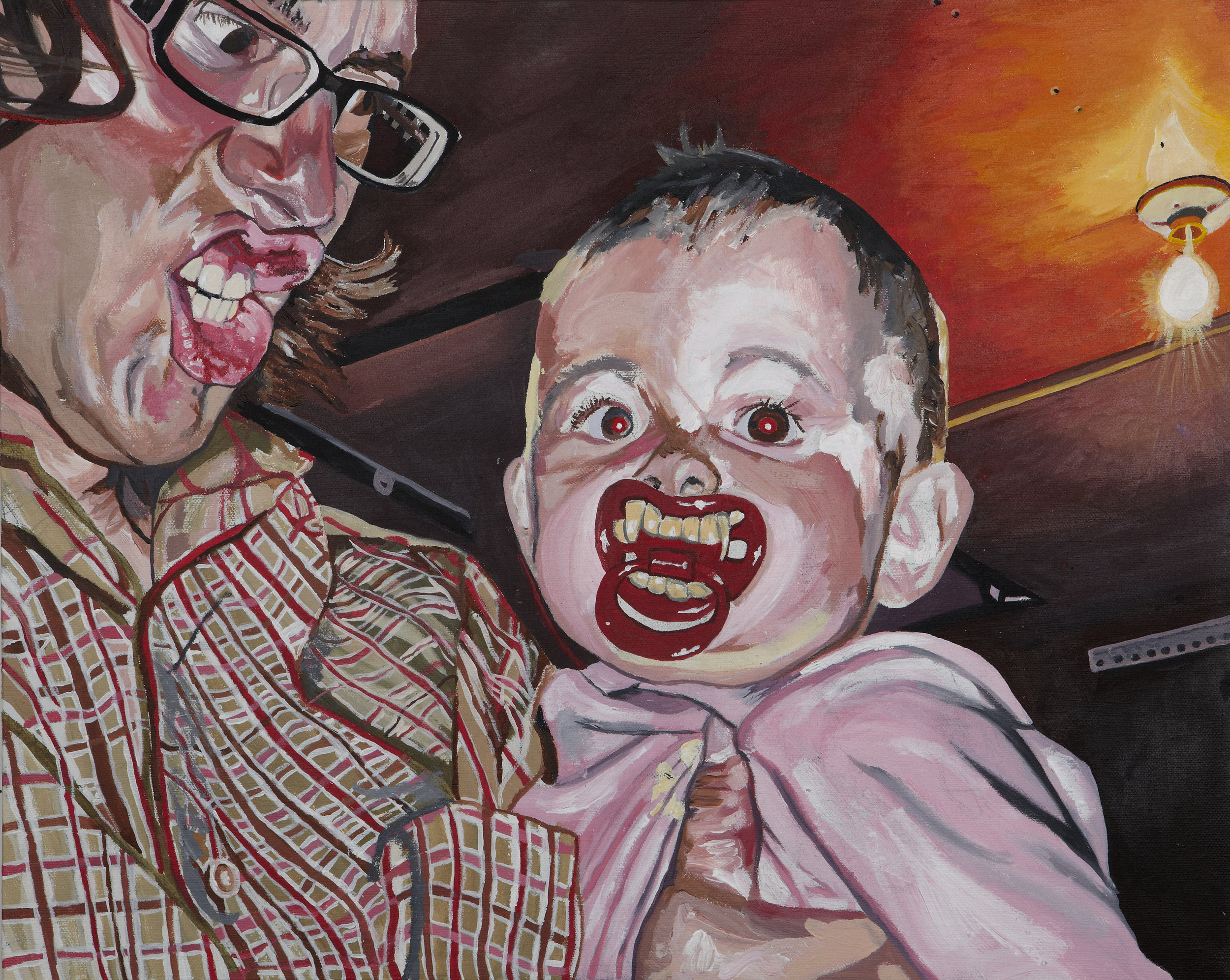 """Don and Hannah , 2011  Acrylic on canvas  16"""" x 20"""""""