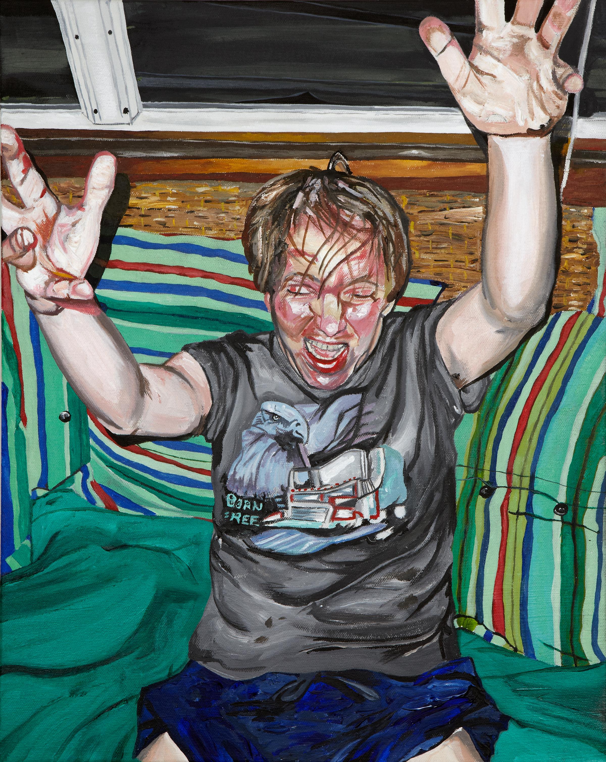 """Ted , 2011  Acrylic on canvas  20"""" x 16"""""""