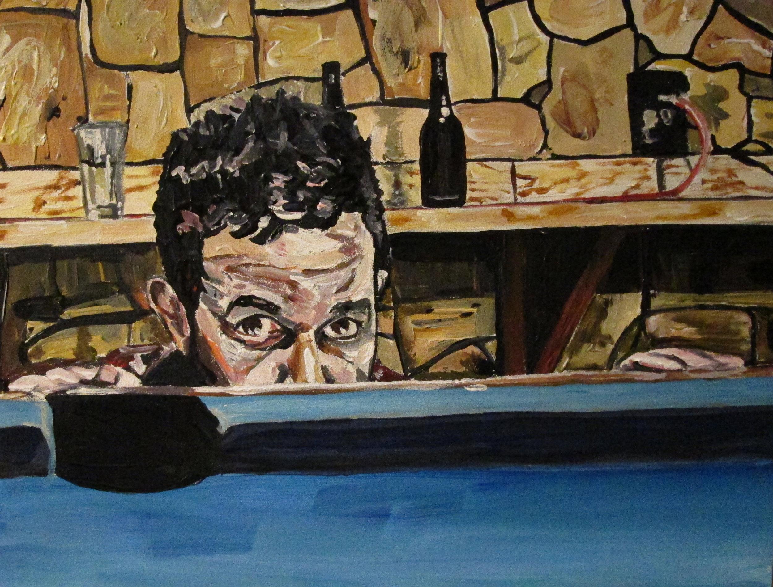 """Self Portrait 1 of 1 , 2011  Acrylic on panel  8"""" x 10"""""""