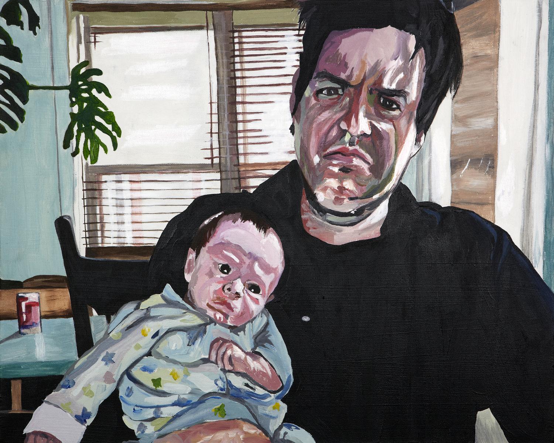 """Jason and Gian , 2011  Acrylic on canvas  16"""" x 20"""""""