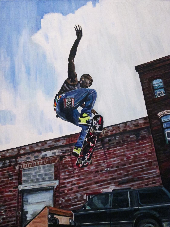 """Maze , 2012  Acrylic on canvas  30"""" x 24"""""""