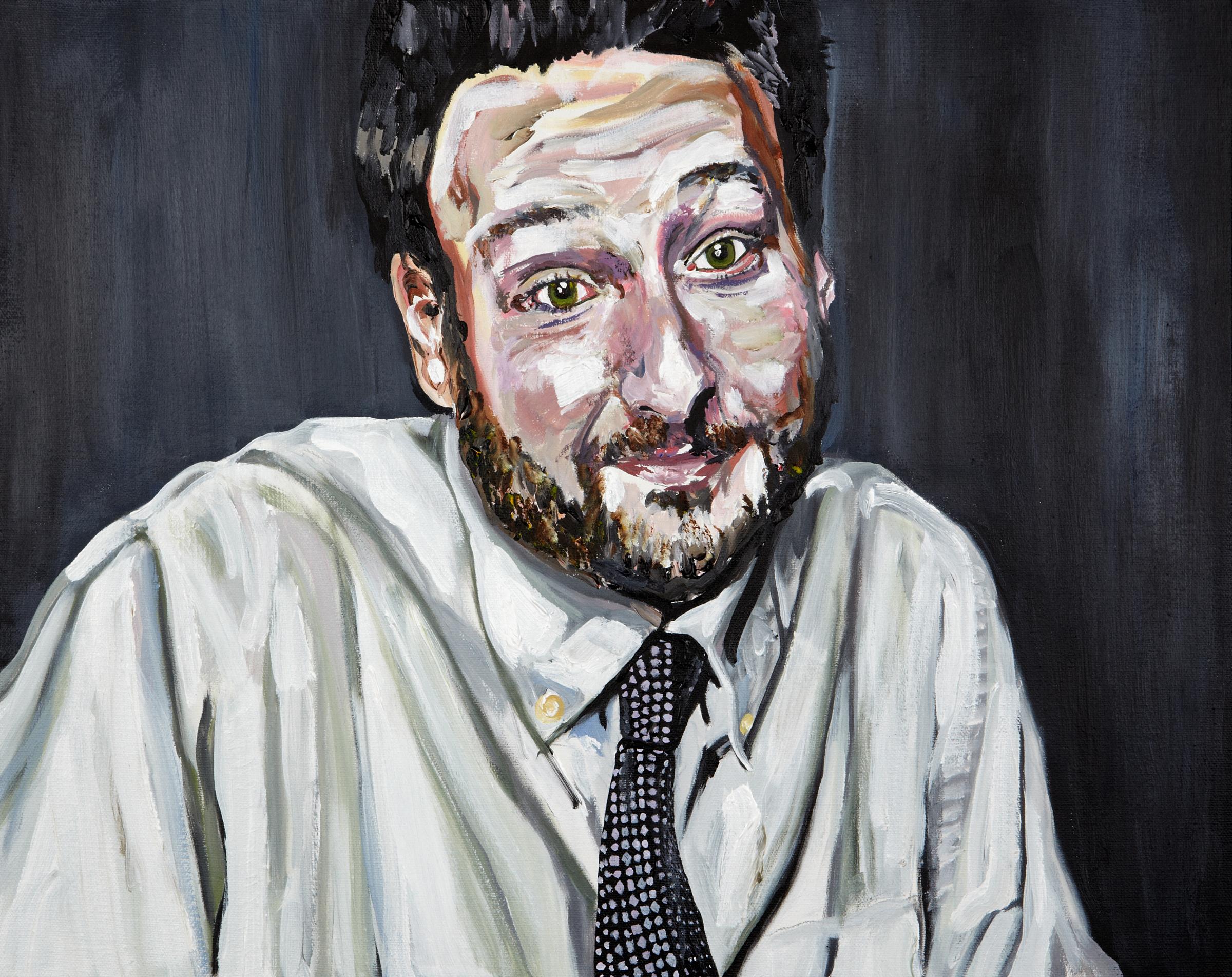 """Ed , 2011  Acrylic on canvas  16"""" x 20"""""""