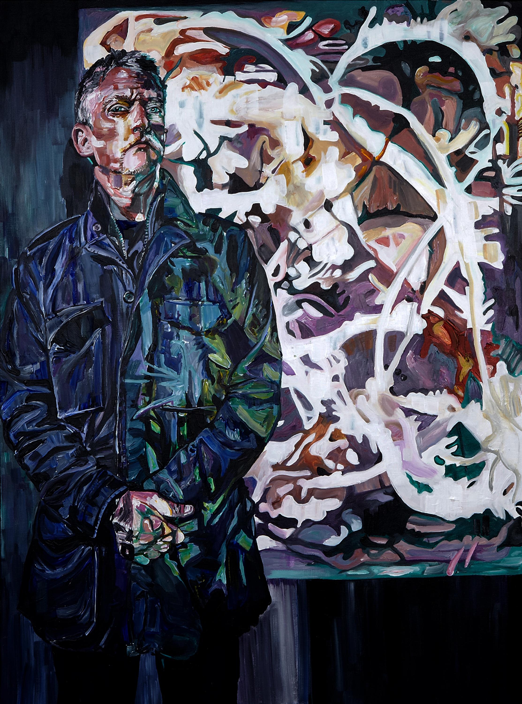 """Edward Mapplethorpe , 2012  Acrylic and varnish on canvas  40"""" x 30"""""""