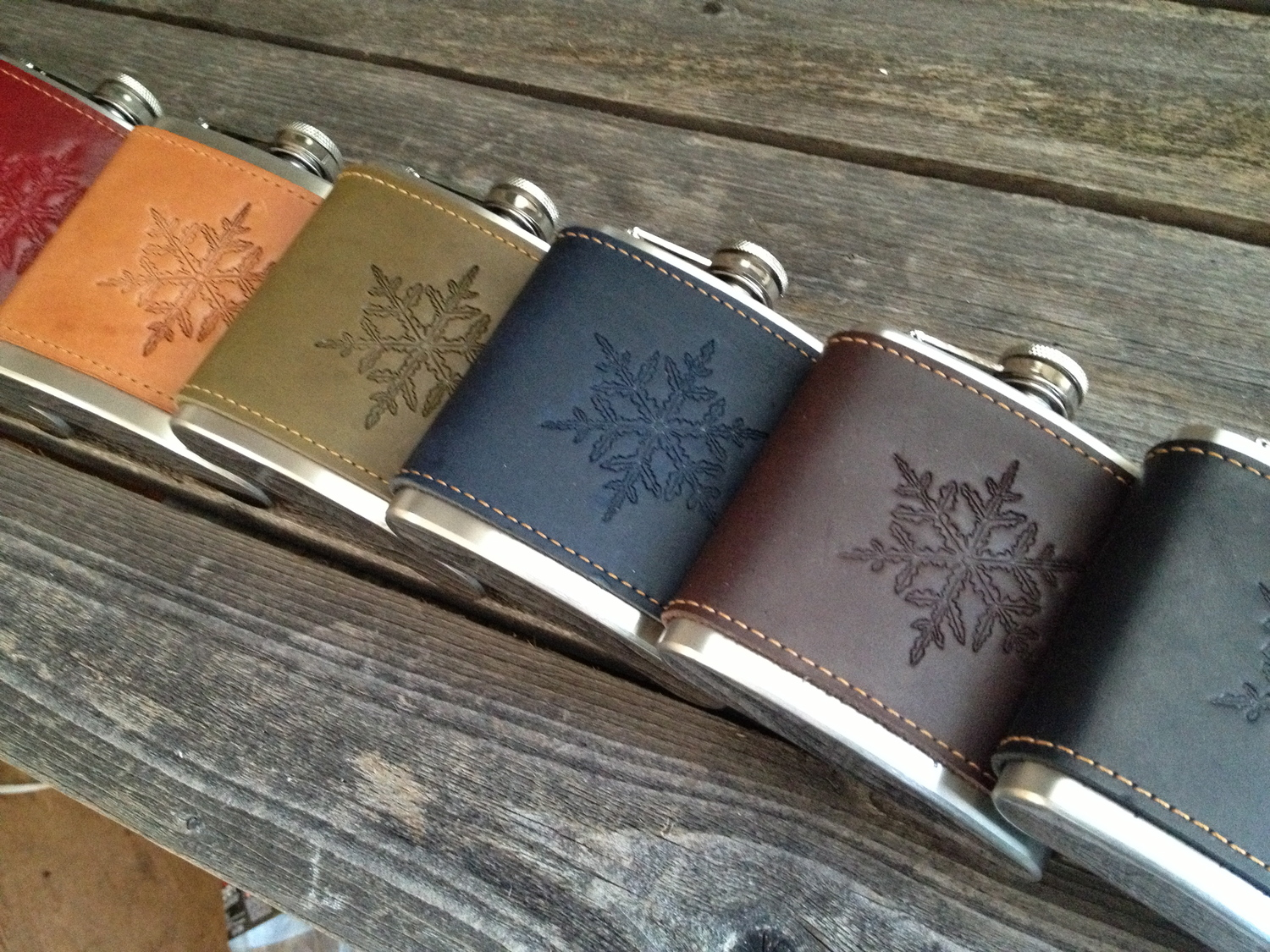 Snowflake Flasks 6oz & 8oz — The Makers Mill