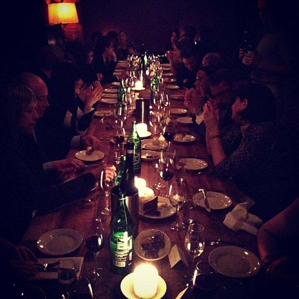 Our long table - dark and moody