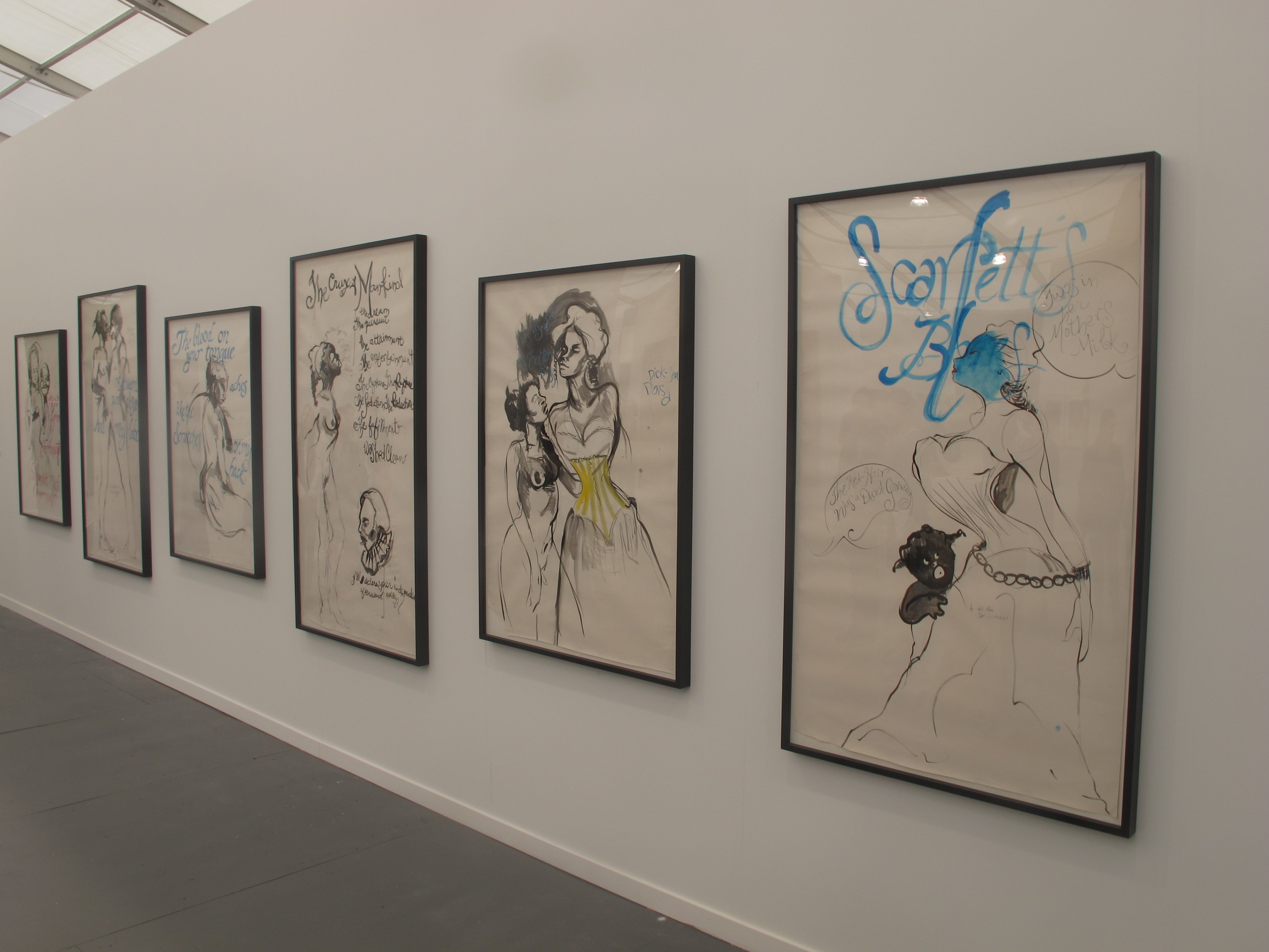 The Kara Walker installation of one-of-a-kind works on paper at Sikkema Jenkins & Co. sold within seconds of the opening. Understandably so.