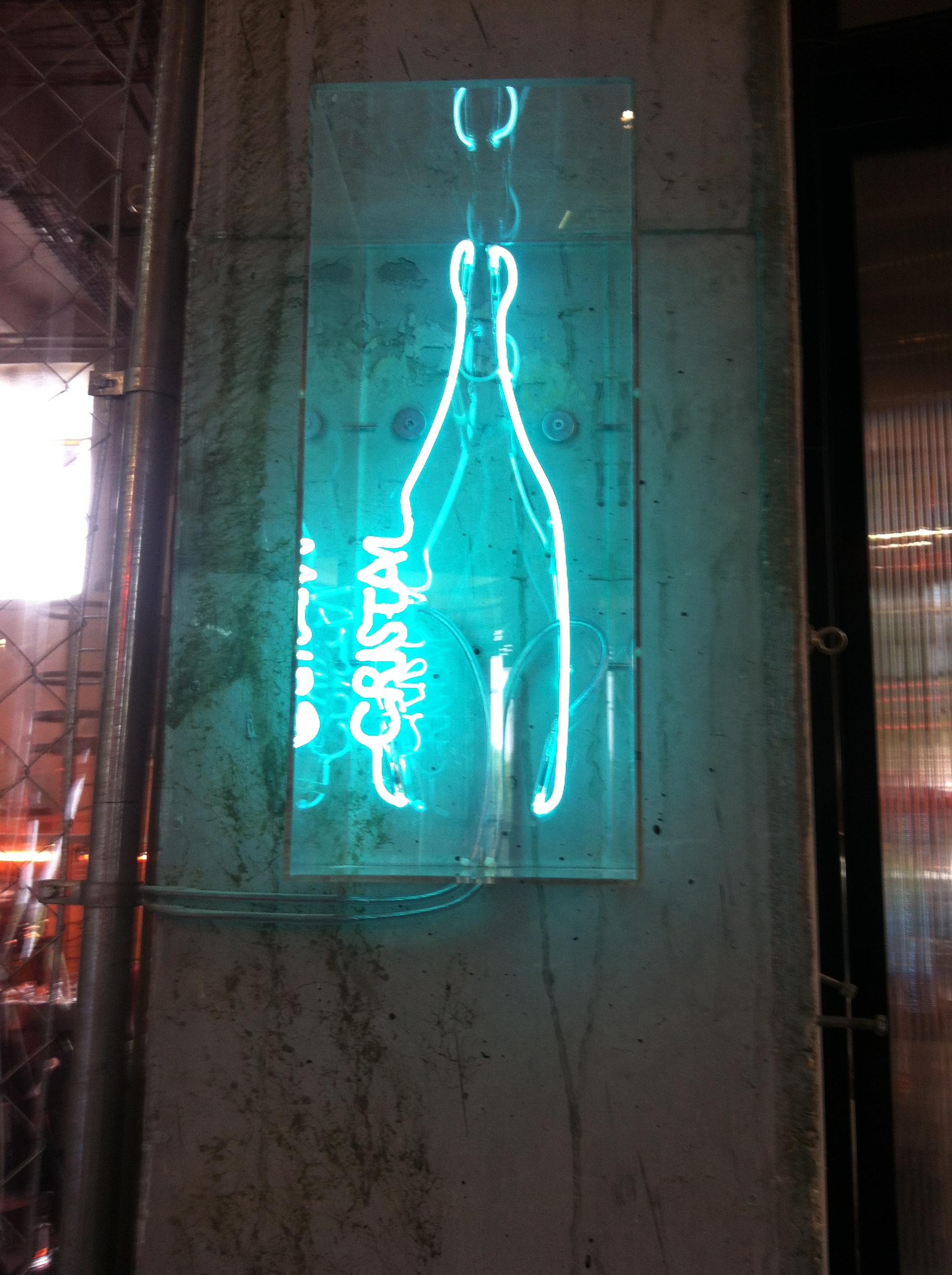 "Jean Michel Alberola ""Cristal"" at Palais de Tokyo. This neon is owned by the Louis Roederer Foundation,  bien sur !"