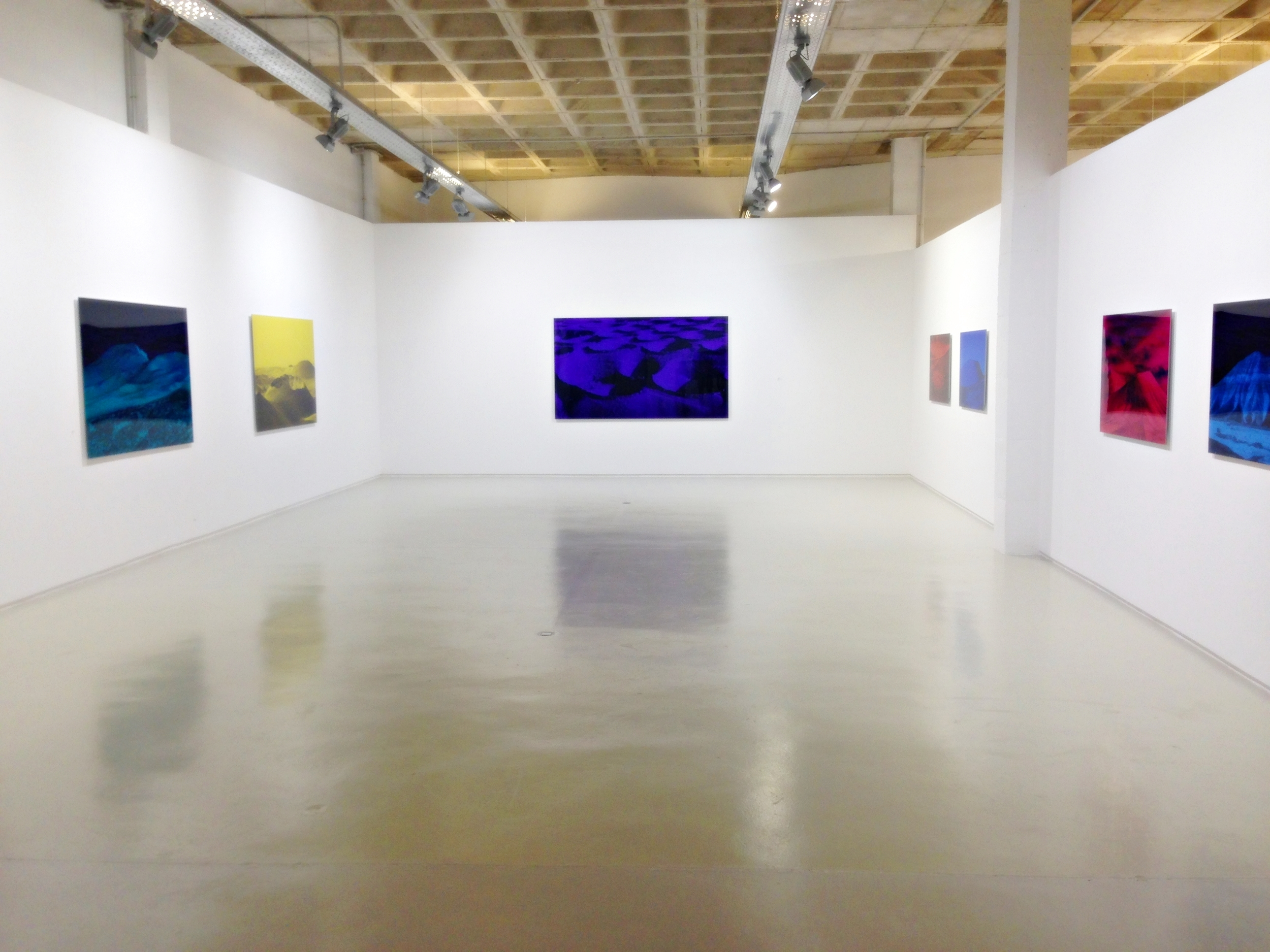 """Themain room with the works of Monica Sanchez-Robles from the show """"Color of Emotions"""" on view until September 14"""